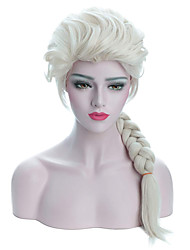 cheap -Synthetic Wig Plaited Halloween With Ponytail Wig Long Beige Blonde Synthetic Hair 24 inch Women's Best Quality Plait Hair Blonde