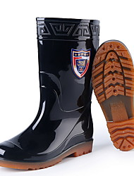 cheap -Men's PVC Spring & Summer Boots Waterproof Booties / Ankle Boots Black