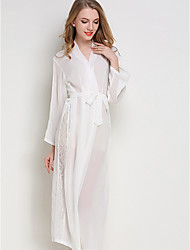 cheap -Women's Deep V Robes Pajamas Solid Colored