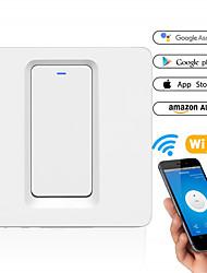 cheap -Smart Switch DS-102-1 WIFI Wall One Way Switch Smart Wall Press Light Switch-EU