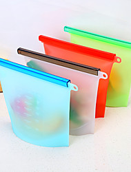 cheap -4pcs Kitchen Reusable Silicone Bag Food Storage Bags Food Preservation Bags Seal Freeze Fridge Food Storage Savers Bags