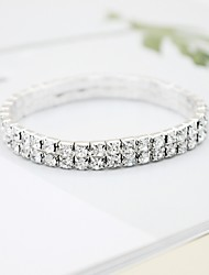 cheap -Bracelet Bangles Classic Birthday Simple Luxury Classic Fashion Rhinestone Bracelet Jewelry Silver For Gift Formal Birthday Festival