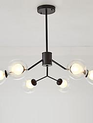 cheap -feimiao 6-Light 80 cm Sputnik Design Chandelier Metal Glass Painted Finishes Modern / Nordic Style 110-120V / 220-240V