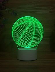 cheap -Basketball Colorful 3D Lights LED Touch Discoloration 3D Night Light Eye Protection 3D Small Table Lamp