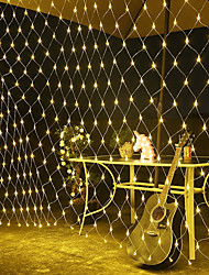 cheap -LED Net Lights Outdoor String Lights Wedding Decoration Waterproof 1.5Mx1.5M Garden Patio Tree Fairy Flexible Curtain String Light Outdoor Holiday Festival Multi-color Garden Decoration Lamp