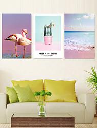 Недорогие -5 шт. Печать декоративной живописи масляной живописи дома декоративные настенные росписи на холсте отпечатки 40x60 см x 3 животных морских