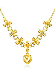 cheap -Women's Pendant Necklace Classic Flower Fashion Brass Gold 45 cm Necklace Jewelry For Party Evening Festival