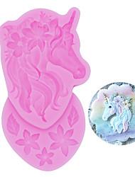 abordables -Molde de pastelería para hornear de silicona unicornio diy