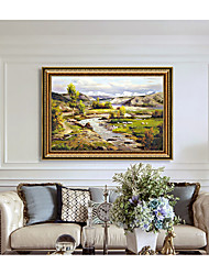 cheap -Framed Art Print Western Classic Landscape Paintings Silent Songs Sofa Setting Wall Dining-Room Sitting Room Hangs A Picture