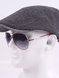 cheap -Men's Basic Cotton Polyester Beret Hat-Striped Fall Black Navy Blue