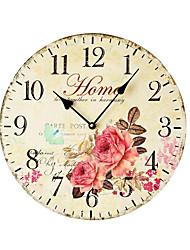 cheap -1pcs Pastoral Color Printing Art Wall Clock Frameless Decorative Wall Pendant