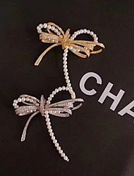 cheap -Women's Freshwater Pearl Brooches Braided Butterfly Classic Fashion Brooch Jewelry Gold Silver For Date Vacation Black Tie Gala Festival