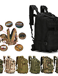 cheap -30 L Hiking Backpack Commuter Backpack Military Tactical Backpack Multifunctional Dust Proof Durable Wear Resistance Outdoor Camping / Hiking Hunting Climbing Canvas Jungle camouflage Digital Jungle