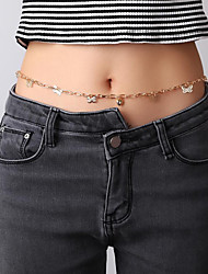 cheap -Women's Body Jewelry 85 cm Waist Chain Gold Simple / Classic / Vintage Alloy Costume Jewelry For Vacation / Going out / Birthday Summer