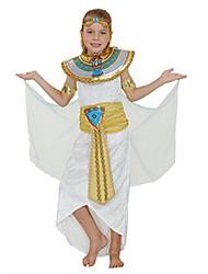 cheap -Pharaoh Kid's Kids Girls' Halloween Costume For Polyster Solid Colored Halloween Halloween Carnival Children's Day Dress Headwear Waist Belt / Neckwear / Wrist Brace / Neckwear / Wrist Brace