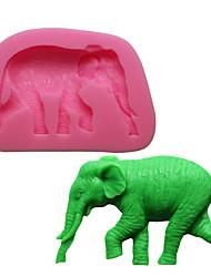 Недорогие -сделай сам слон форма силиконовые формы торт шоколадная выпечка 1шт