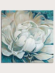 cheap -Hand Painted Canvas Oilpainting Impression White Flower Home Decoration with Frame Painting Ready to Hang