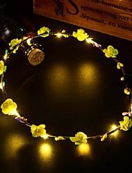 cheap -10pcs Glowing Garland LED String Light Glowing Vine Headdress Shooting Decorative PropsWedding Party WreathAtmosphere LightPortable Prop LightNight LightPlant-Like Light Outdoor