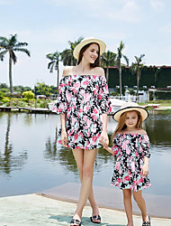 cheap -Mommy and Me Geometric Dress Blushing Pink
