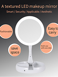 cheap -Portable LED Lighted Makeup Mirror Vanity Compact Make Up Pocket Mirrors 10X Magnifying Glasses Makeup Cosmetic Hand Mirror