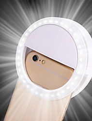 cheap -LED Ring Flash Universal Selfie Light Portable Mobile Phone 36 LEDS Selfie Lamp Luminous Ring Clip For iPhone 8 7 6 Plus Samsung
