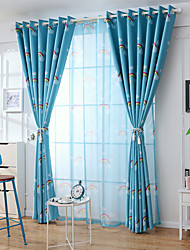 cheap -Gyrohome 1PC Rainbows Shading High Blackout Curtain Drape Window Home Balcony Dec Children Door *Customizable* Living Room Bedroom Dining Room
