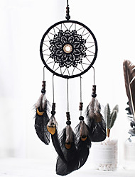 cheap -Ins Nordic Dream Catcher Home Decoration Pendant Girl Heart Bedroom Pendant Princess Room Accessories