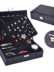 cheap -Jewelry Box - Leather Light Blue, Rose, Black 25 cm 20.5 cm 7.8 cm / Women's