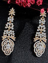 cheap -Women's Drop Earrings Dangle Earrings Pear Cut Drop Fashion Elegant Earrings Jewelry Gold For Wedding Party Anniversary Prom 1 Pair