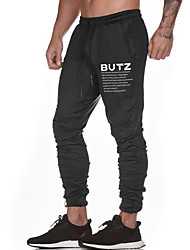 cheap -Men's Jogger Pants Joggers Running Pants Track Pants Sports Pants Athletic Athleisure Wear Bottoms Drawstring Sport Running Fitness Jogging Waterproof Breathable Quick Dry Black Gray Letter