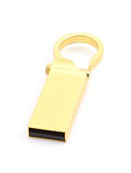 Недорогие -Litbest круглая кнопка золотой металлический брелок 64 ГБ флэш-накопители USB 2.0 Creative для автомобиля