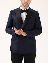 cheap -Men's Suits Notch Lapel Polyester Black