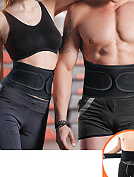 cheap -Back Brace Back Support / Lumbar Support Belt Waist Trimmer / Sauna Belt for Fitness Gym Workout Running Adjustable Muscle support Compression Tummy Fat Burner Sweat Out Men's Women's Rubber 1 Piece
