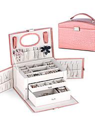 cheap -Jewelry Box - Leather Black, Red, Pink 27 cm 17 cm 16 cm / Women's