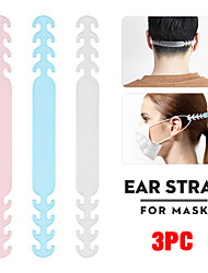 cheap -3PC Mask Hanging Buckle Relieving Ear Pain Anti-Slip Mask Ear Grips Extension Hook Adjustable Four Gear