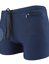Недорогие -Муж. Синий Темно синий Трусики, шорты и т.д. Купальники купальник - Контрастных цветов Один размер Синий