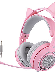 cheap -SOMIC G951S Pink Cat Headphones Wired Gaming Headset 3.5mm Headset with Mic for PC