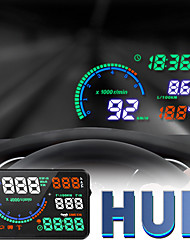 cheap -L8 New HUD Head Up Display Speed Water Temperature and Voltage Display Alarm OBD Diagnostic Elimination Fault Code