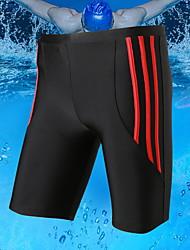 cheap -Men's Plus Size Blue Red Gray Boy Leg Bottoms Swimwear Swimsuit - Striped One-Size Blue