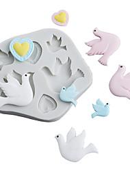 Недорогие -мир голубь солнце птица любовь счастье птица плесень помадка торт силиконовые формы выпечки инструмент