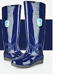 cheap -Men's PVC Spring & Summer Boots Waterproof Mid-Calf Boots Army Green / Blue