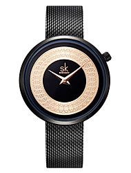 cheap -Women's Steel Band Watches Quartz Casual Water Resistant / Waterproof Analog Rose Gold Black / One Year / Stainless Steel / Japanese / Japanese / One Year