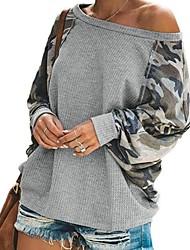 cheap -Women's Sweatshirt Print Basic Black Blushing Pink Dark Gray Gray S M L XL XXL
