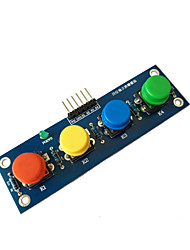 cheap -Four Caps With a Button Module  Independent Button Electronic Module MCU