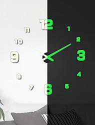 Недорогие -часы настенные часы современный дизайн часы цифровые большие большие 3d diy декор для дома светящиеся luminova зеркало стикер