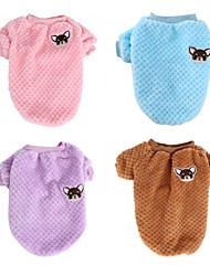 Недорогие -Собака Толстовка Зима Одежда для собак Лиловый Розовый Хаки Костюм Хлопок Мультипликация На каждый день S M L XL XXL