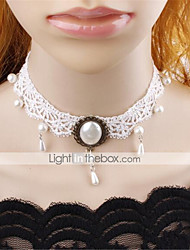 cheap -Women's Choker Necklace Collar Necklace Charm Necklace Precious Vintage Imitation Pearl Chrome White 45 cm Necklace Jewelry For Christmas Party Evening Street Festival