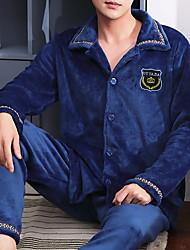 cheap -Men's Suits Nightwear Wine Royal Blue Gray L XL XXL