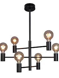 cheap -6-Light 62 cm Single Design Chandelier Metal Glass Electroplated / Painted Finishes Modern / Nordic Style 110-120V / 220-240V
