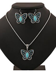 cheap -Women's Jewelry Set Hollow Out Butterfly Stylish Earrings Jewelry Silver For Gift Festival 1 set